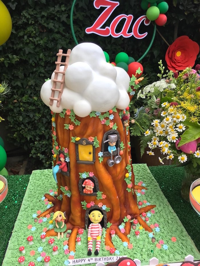 Woodland treehouse cake from a Woodland Fairy Birthday Party on Kara's Party Ideas | KarasPartyIdeas.com (9)