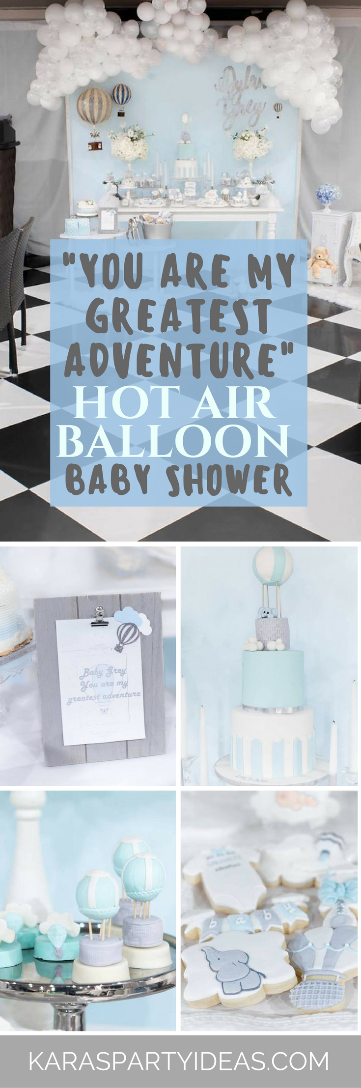 You are My Greatest Adventure Hot Air Balloon Baby Shower via Kara's Party Ideas - KarasPartyIdeas.com (1)