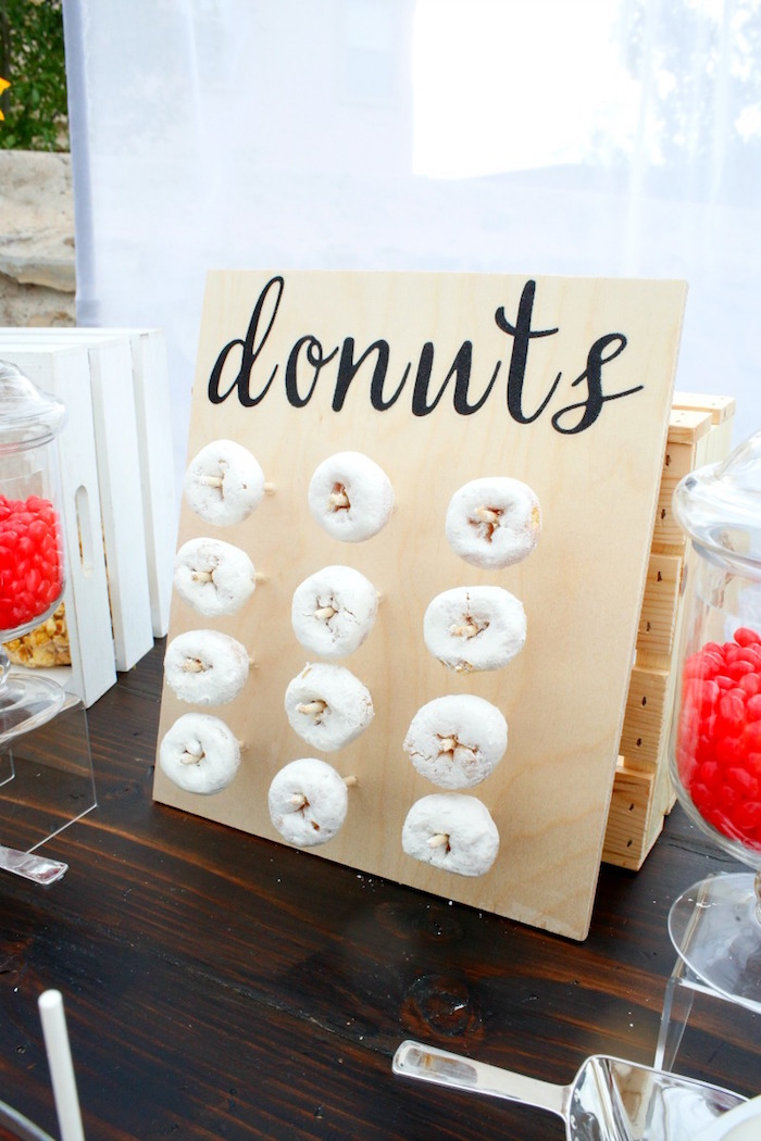 """Donuts from an """"I do"""" BBQ Engagement Party on Kara's Party Ideas 