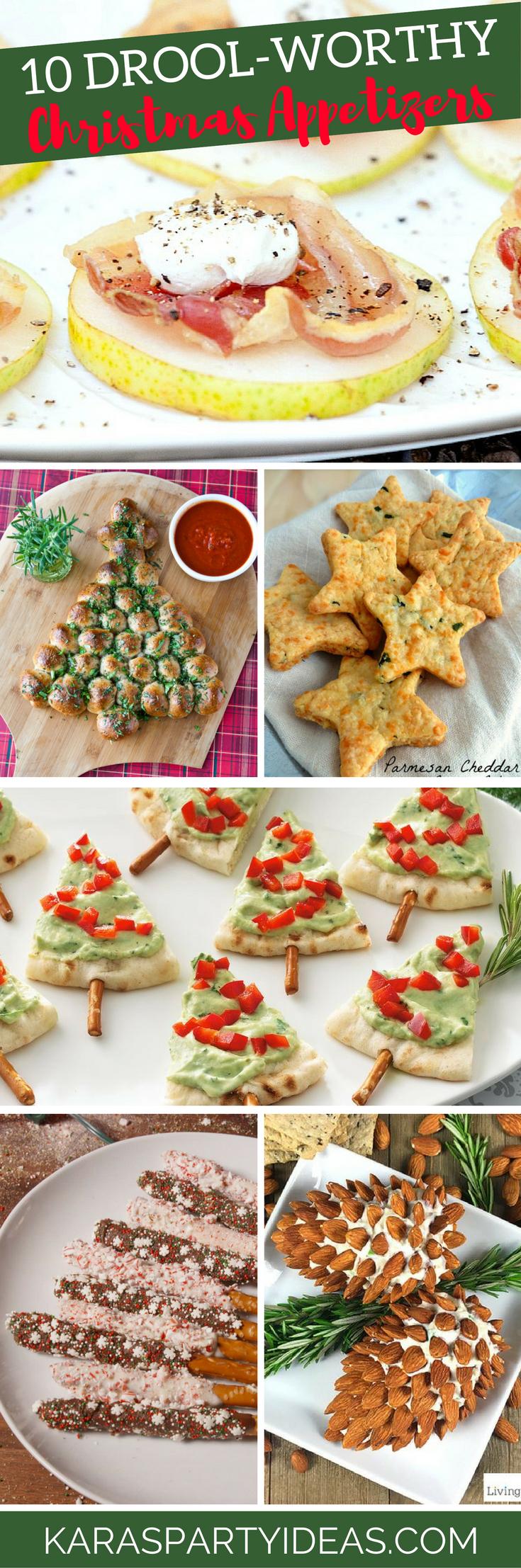 10 Drool Worthy Christmas Appetizers via Kara's Party Ideas - KarasPartyIdeas.com