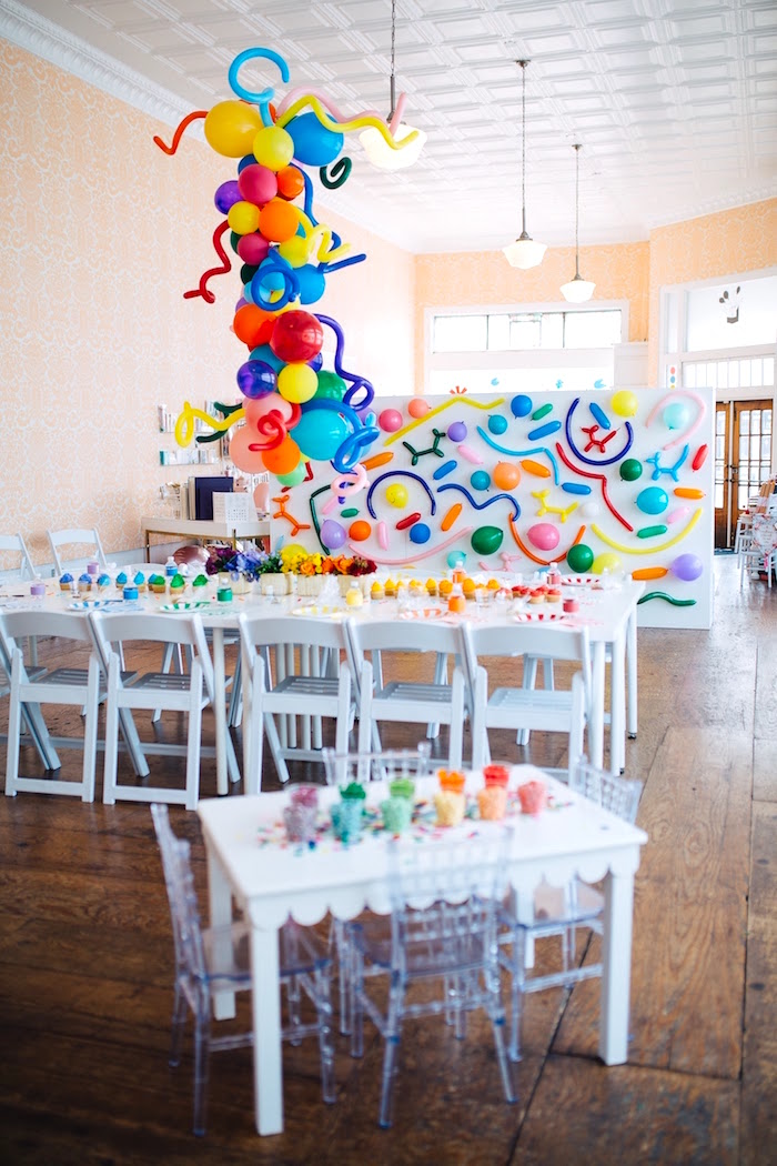 """Color me Happy"" Art Party for Kids on Kara's Party Ideas 