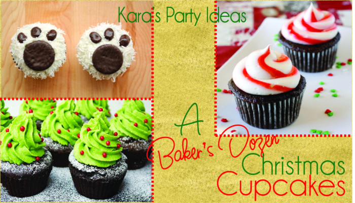 A Baker's Dozen Christmas Cupcakes from Kara's Party Ideas