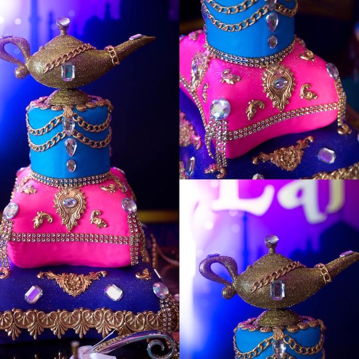 Arabian Cake from an Arabian Nights Birthday Party on Kara's Party Ideas | KarasPartyIdeas.com (10)