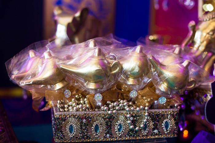 Gold lamp cake pops from an Arabian Nights Birthday Party on Kara's Party Ideas | KarasPartyIdeas.com (9)