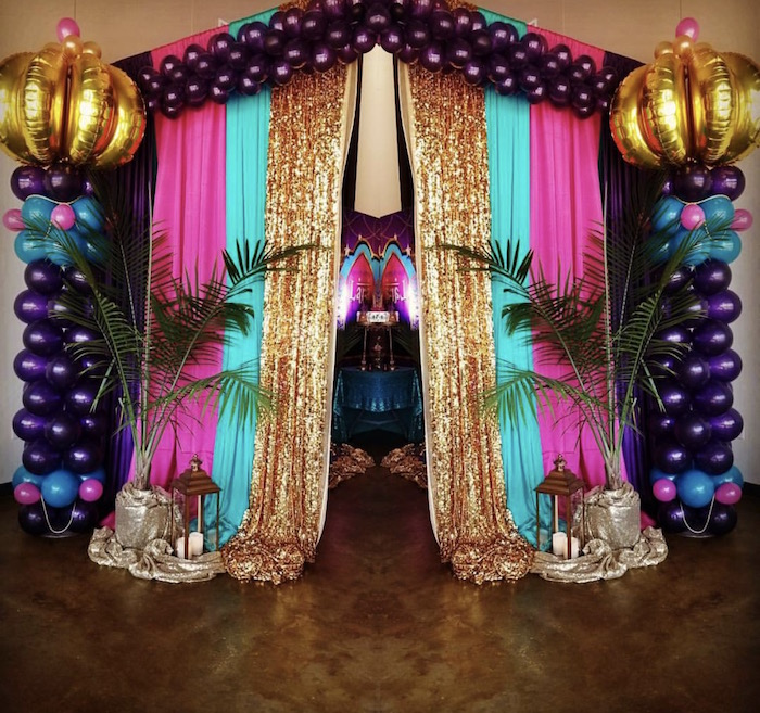 Entrance from an Arabian Nights Birthday Party on Kara's Party Ideas | KarasPartyIdeas.com (7)