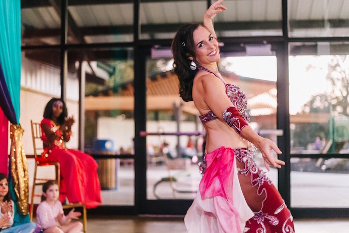 Belly dancer from an Arabian Nights Birthday Party on Kara's Party Ideas | KarasPartyIdeas.com (4)
