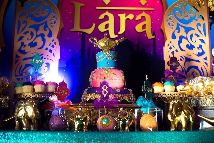 Arabian sweet table from an Arabian Nights Birthday Party on Kara's Party Ideas | KarasPartyIdeas.com (3)