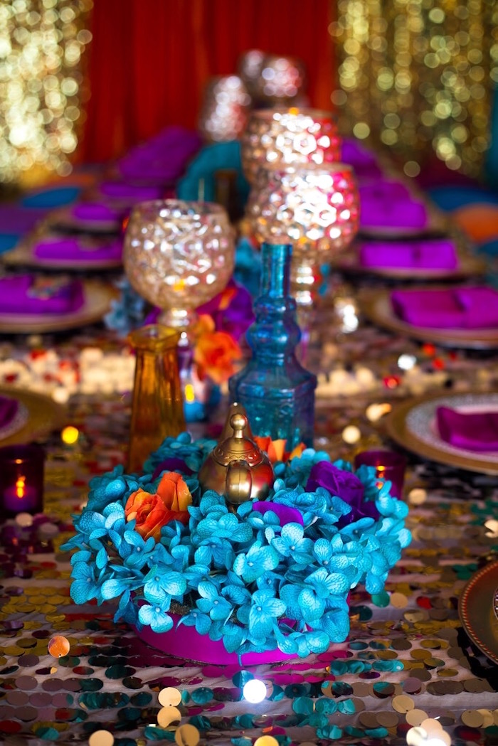 Night Centerpiece Ideas : Kara s party ideas arabian nights birthday