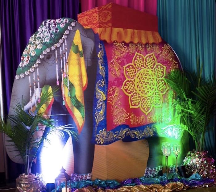 Arabian Elephant Standee from an Arabian Nights Birthday Party on Kara's Party Ideas | KarasPartyIdeas.com (11)