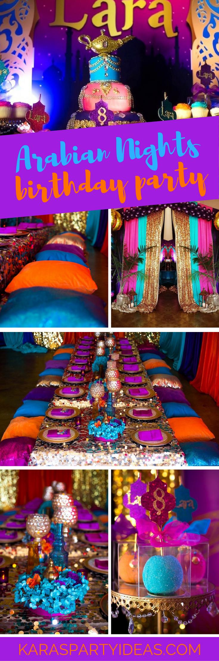Arabian Nights Birthday Party via Kara's Party Ideas - KarasPartyIdeas.com