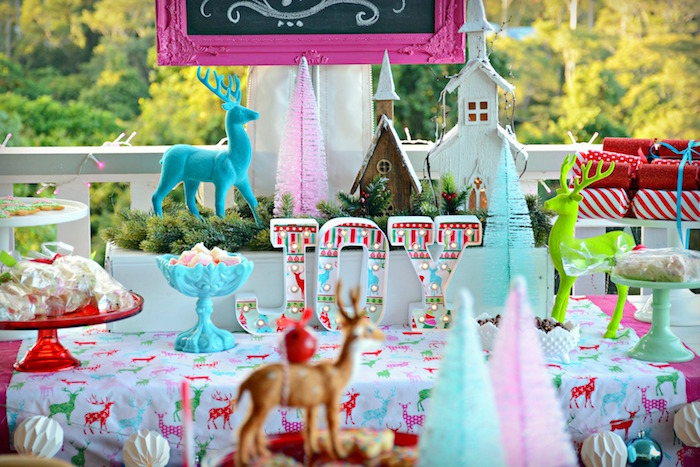 Baby Christmas Party Ideas Part - 36: JOY Dessert Table From A Bright U0026 Colorful Christmas Party On Karau0027s Party  Ideas | KarasPartyIdeas