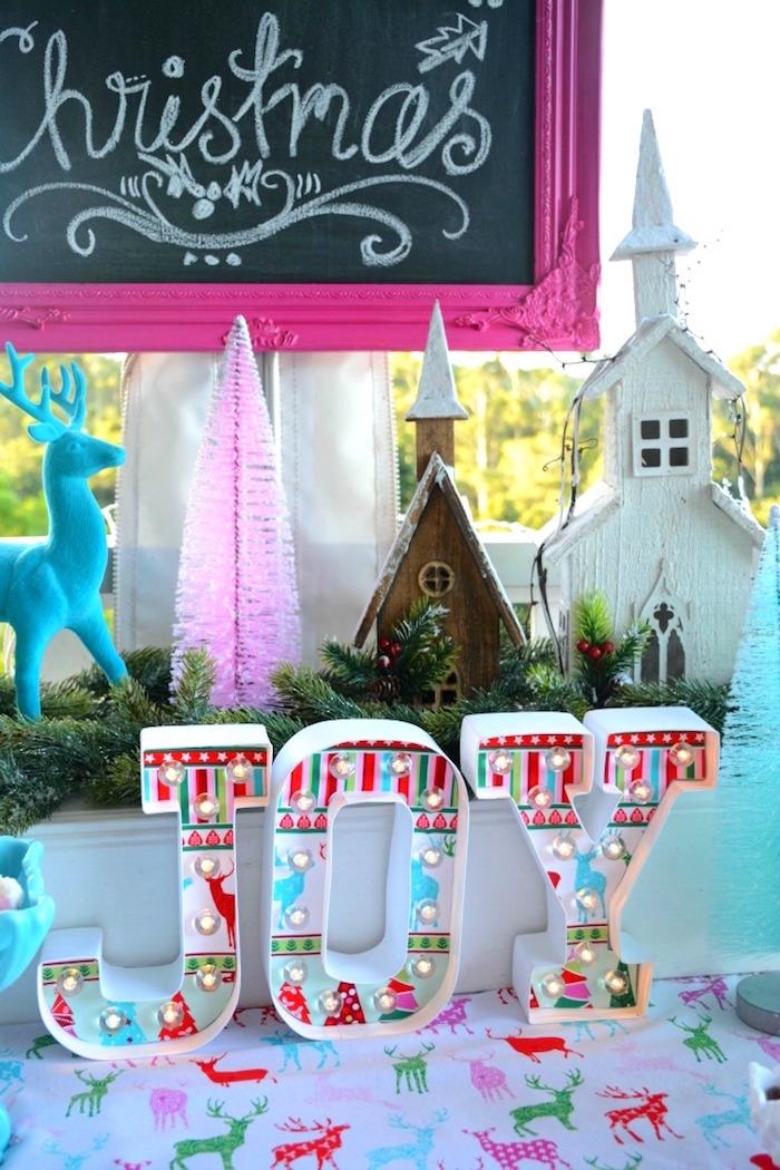 Colorful Christmas decor from a Bright & Colorful Christmas Party on Kara's Party Ideas | KarasPartyIdeas.com (18)