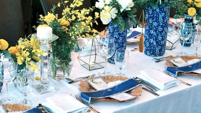 Table setting + guest tablescape from a Chinoiserie Chinese New Year Party on Kara's Party Ideas | KarasPartyIdeas.com (9)