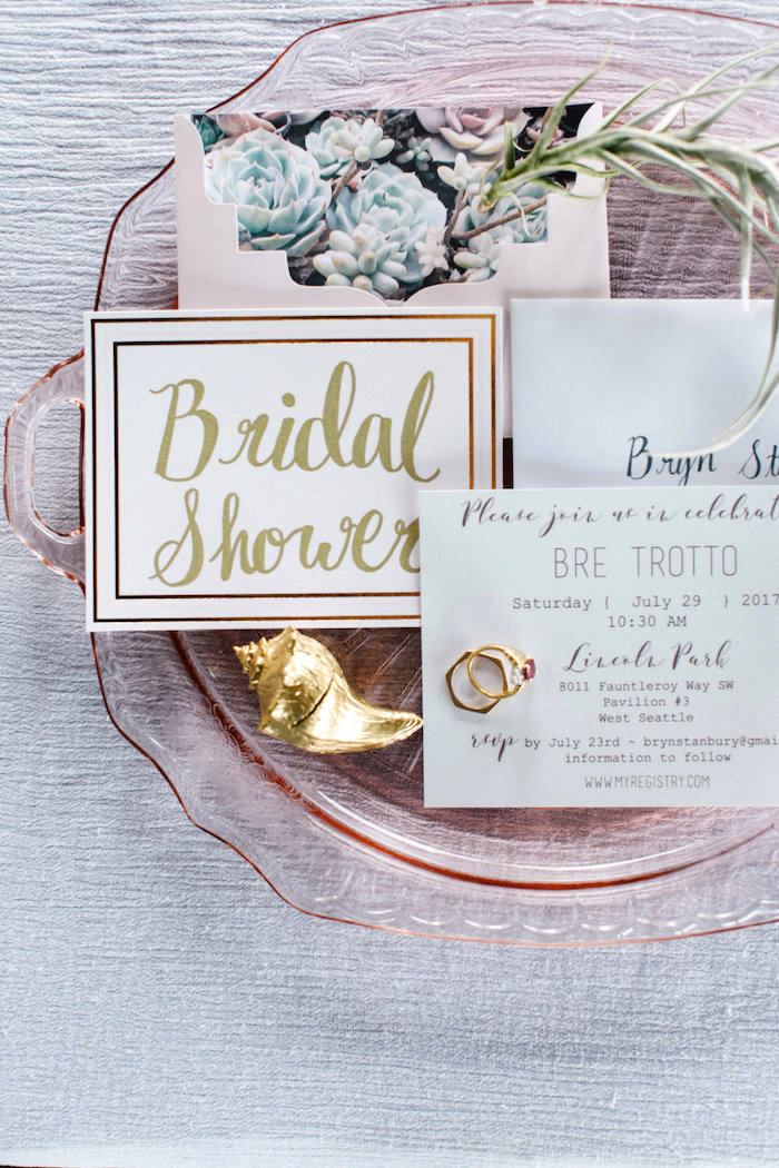 Signage from a Coastal Vintage Romance Bridal Shower on Kara's Party Ideas | KarasPartyIdeas.com (6)