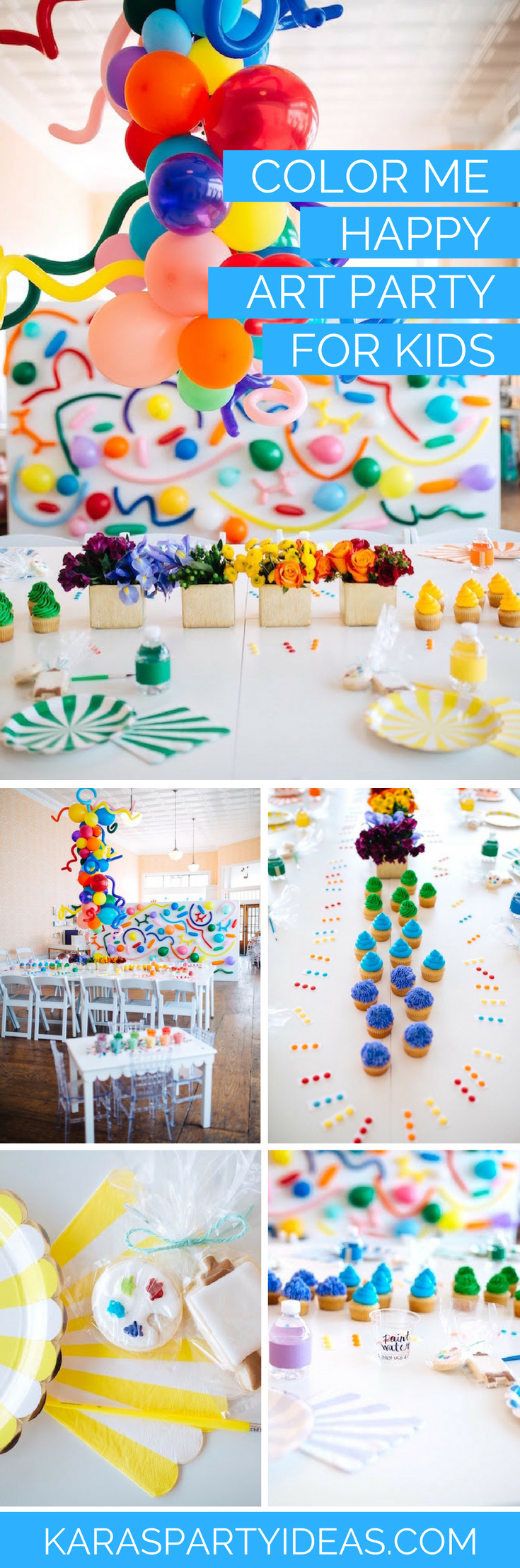 Color Me Happy Art Party for Kids via Kara's Party Ideas - KarasPartyIdeas.com