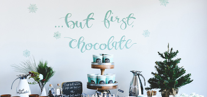 DIY Hot Chocolate Bar + FREE Printables on Kara's Party Ideas | KarasPartyIdeas.com (3)