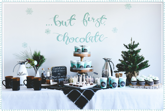 DIY Hot Chocolate Bar + FREE Printables on Kara's Party Ideas | KarasPartyIdeas.com (12)