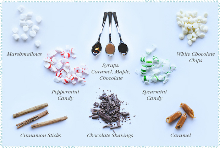 Toppings from a DIY Hot Chocolate Bar + FREE Printables on Kara's Party Ideas | KarasPartyIdeas.com (11)