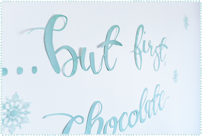 Lettering/backdrop from a DIY Hot Chocolate Bar + FREE Printables on Kara's Party Ideas | KarasPartyIdeas.com (9)