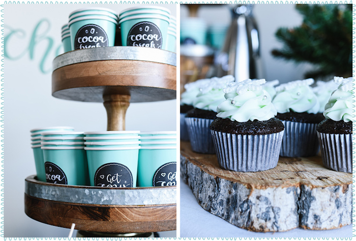 Hot Cocoa Cups & Cupcakes from a DIY Hot Chocolate Bar + FREE Printables on Kara's Party Ideas | KarasPartyIdeas.com (8)