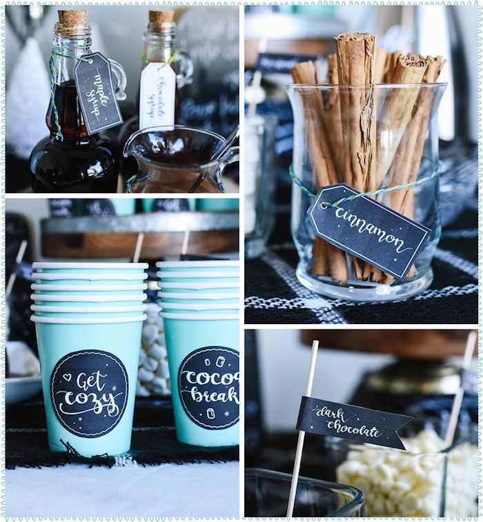 DIY Hot Chocolate Bar + FREE Printables on Kara's Party Ideas | KarasPartyIdeas.com (7)