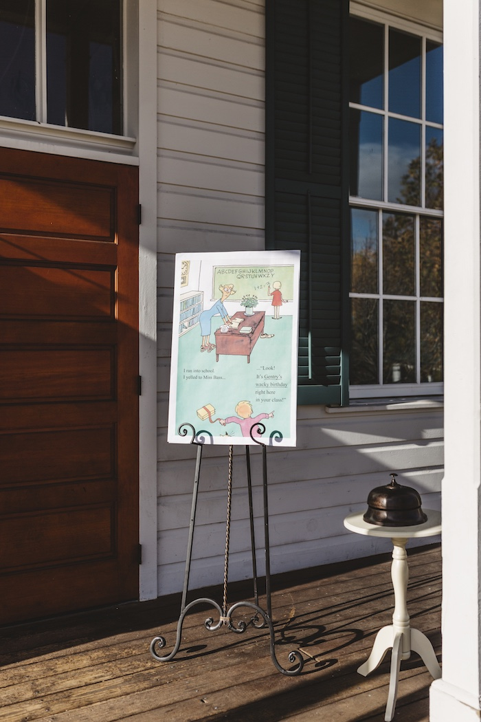 "Welcome sign from a Dr. Seuss Inspired ""Wacky Wednesday"" Birthday Party on Kara's Party Ideas 