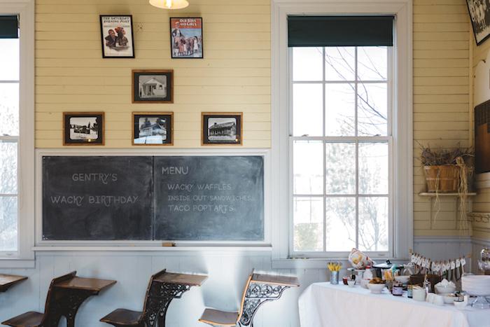 "Schoolhouse Partyscape from a Dr. Seuss Inspired ""Wacky Wednesday"" Birthday Party on Kara's Party Ideas | KarasPartyIdeas.com (19)"