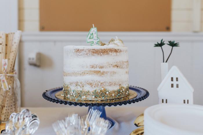 "Semi-naked cake from a Dr. Seuss Inspired ""Wacky Wednesday"" Birthday Party on Kara's Party Ideas | KarasPartyIdeas.com (15)"