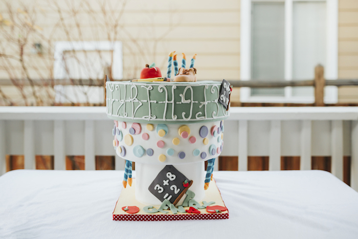 "Upside Down Cake from a Dr. Seuss Inspired ""Wacky Wednesday"" Birthday Party on Kara's Party Ideas 