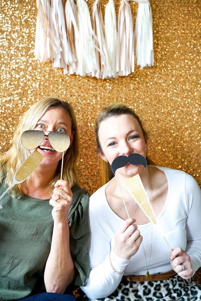 Glam photo booth from an Easy DIY Sparkly New Year's Eve Party on Kara's Party Ideas | KarasPartyIdeas.com (3)