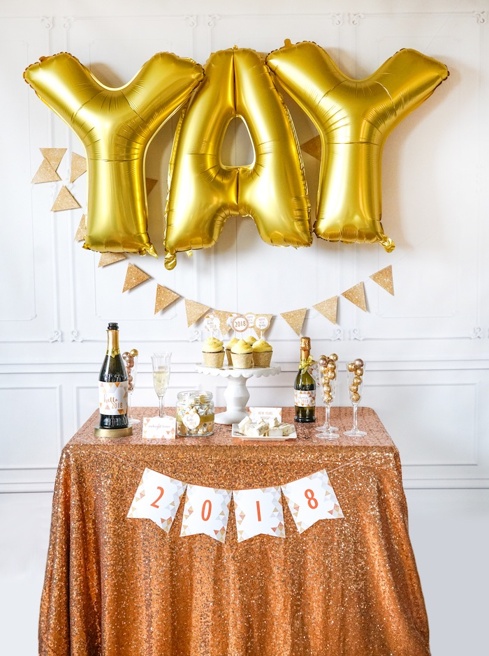 Easy DIY Sparkly New Year's Eve Party