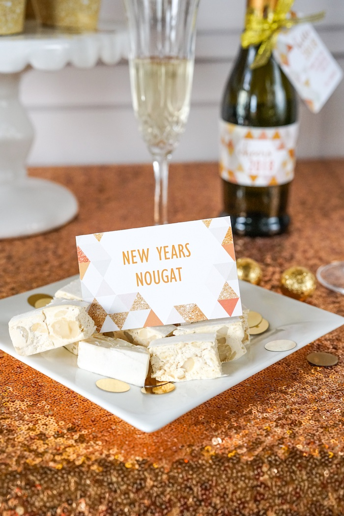New Year's Nougat from an Easy DIY Sparkly New Year's Eve Party on Kara's Party Ideas | KarasPartyIdeas.com (13)