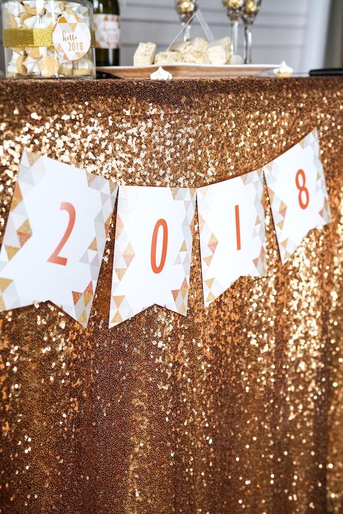 Kara S Party Ideas Easy Diy Sparkly New Year S Eve Party Kara S Party Ideas