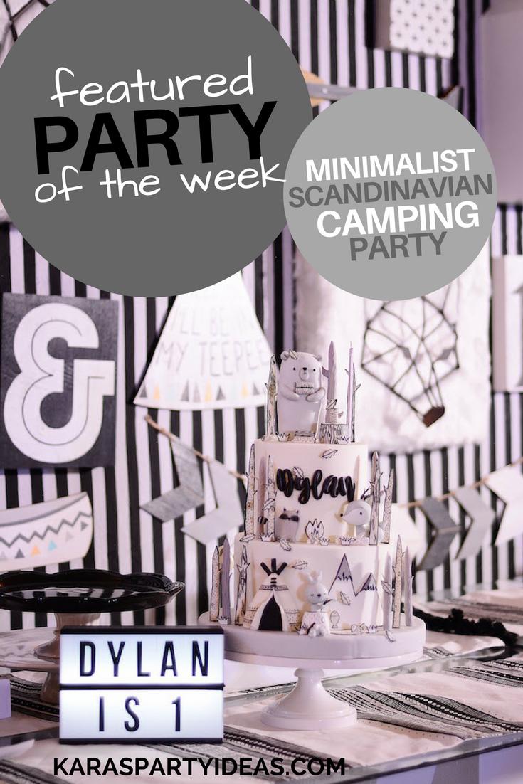 Minimalist scandinavian camping party via Kara's Party Ideas