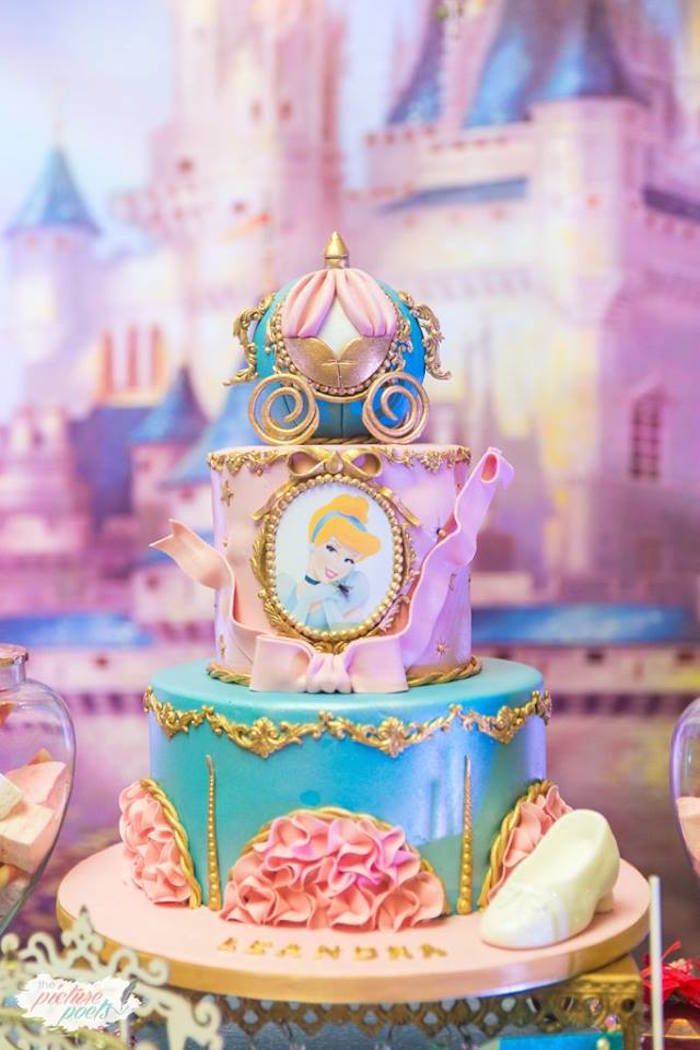 Cinderella Cake from a Garden Cinderella Birthday Party on Kara's Party Ideas | KarasPartyIdeas.com (11)