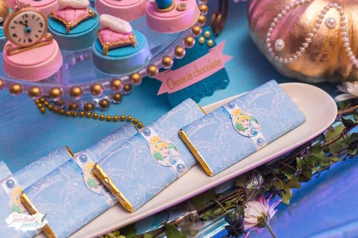 Cinderella Candy Bars from a Garden Cinderella Birthday Party on Kara's Party Ideas | KarasPartyIdeas.com (7)