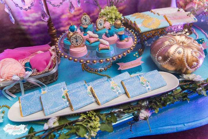 Dessert table detail from a Garden Cinderella Birthday Party on Kara's Party Ideas | KarasPartyIdeas.com (20)