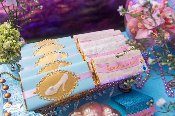 Cinderella Candy Bars from a Garden Cinderella Birthday Party on Kara's Party Ideas | KarasPartyIdeas.com (12)