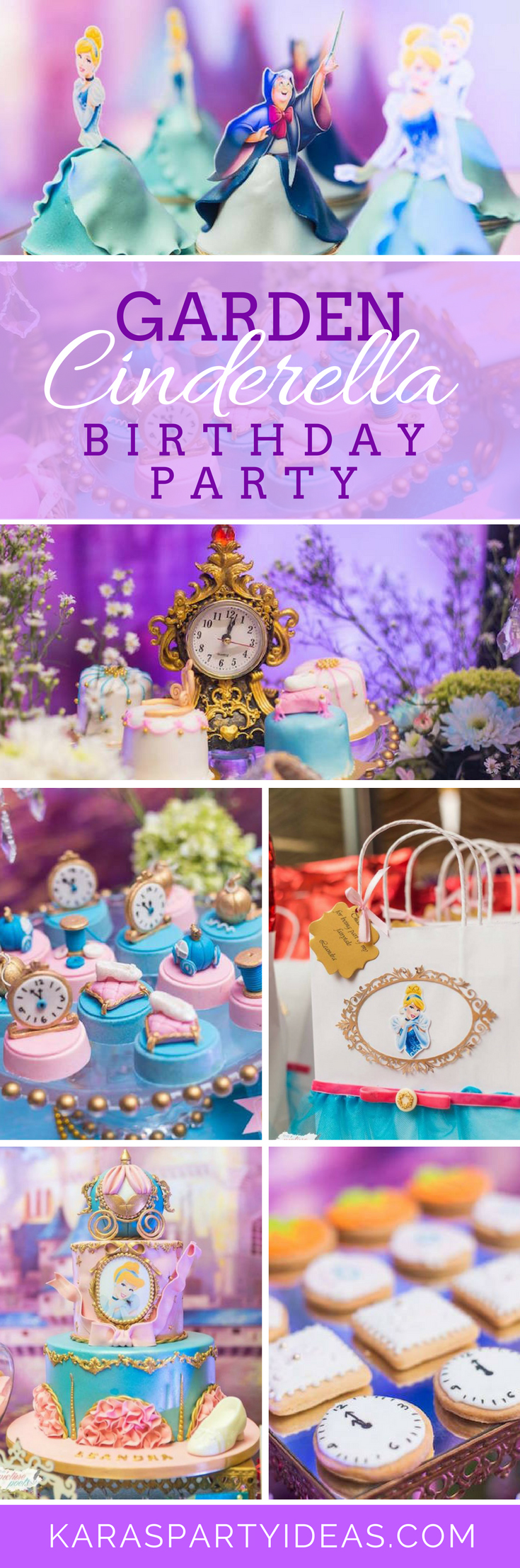 Garden Cinderella Birthday Party via Kara's Party Ideas - KarasPartyIdeas.com