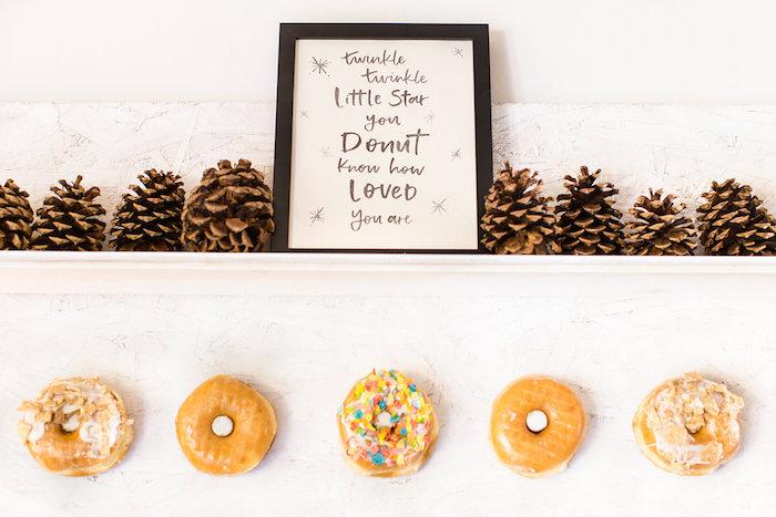 Donut wall from a Holiday Boho Baby Shower on Kara's Party Ideas | KarasPartyIdeas.com (15)