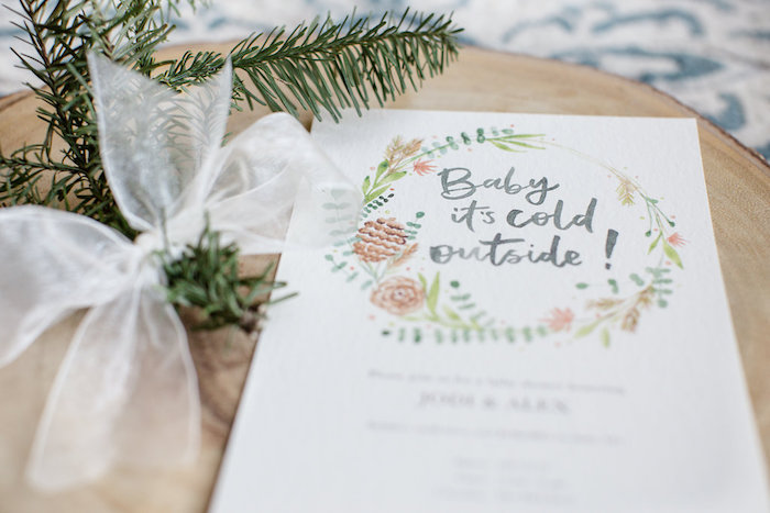 Boho Party Invite from a Holiday Boho Baby Shower on Kara's Party Ideas | KarasPartyIdeas.com (26)