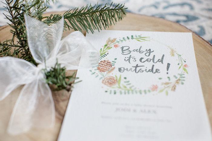 Boho Party Invite from a Holiday Boho Baby Shower on Kara's Party Ideas | KarasPartyIdeas.com (26)
