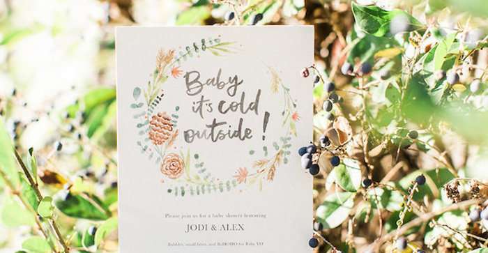 Holiday Boho Baby Shower on Kara's Party Ideas | KarasPartyIdeas.com (3)