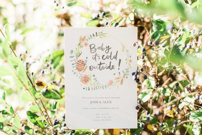 Boho Party Invite from a Holiday Boho Baby Shower on Kara's Party Ideas | KarasPartyIdeas.com (25)