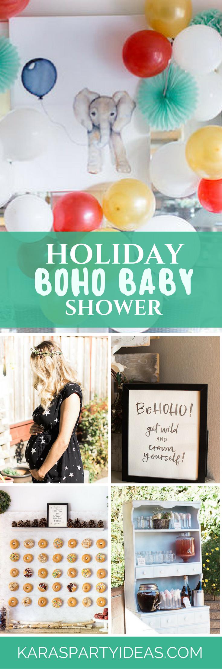 Holiday Boho Baby Shower via Kara's Party Ideas - KarasPartyIdeas.com