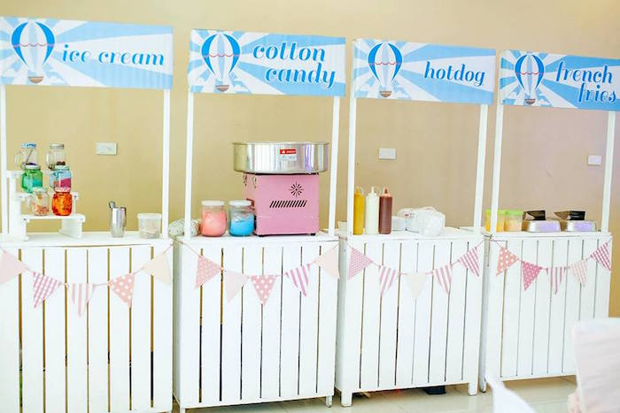 Snack stands from a Hot Air Balloon Birthday Party on Kara's Party Ideas | KarasPartyIdeas.com (2)