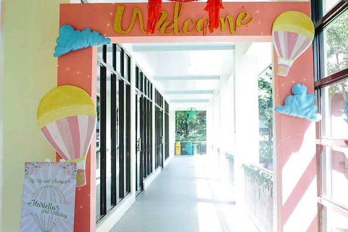 Entrance from a Hot Air Balloon Birthday Party on Kara's Party Ideas | KarasPartyIdeas.com (9)