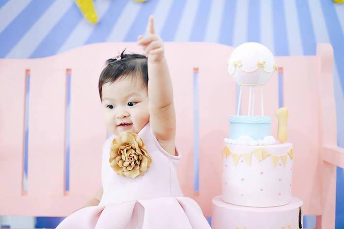 Hot Air Balloon Birthday Party on Kara's Party Ideas | KarasPartyIdeas.com (4)