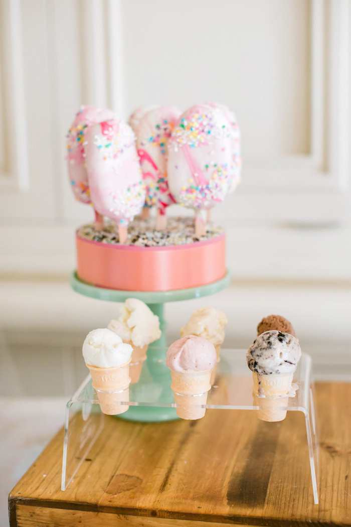 Cake pops + popsicles from an Ice Cream Truck Birthday Party on Kara's Party Ideas | KarasPartyIdeas.com (24)