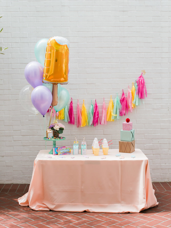 Party table from an Ice Cream Truck Birthday Party on Kara's Party Ideas | KarasPartyIdeas.com (15)